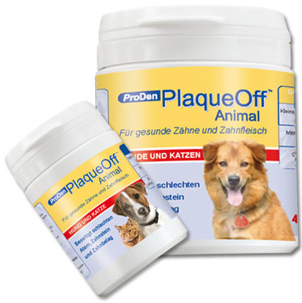 PlaqueOff Animal Verpackungsgrößen